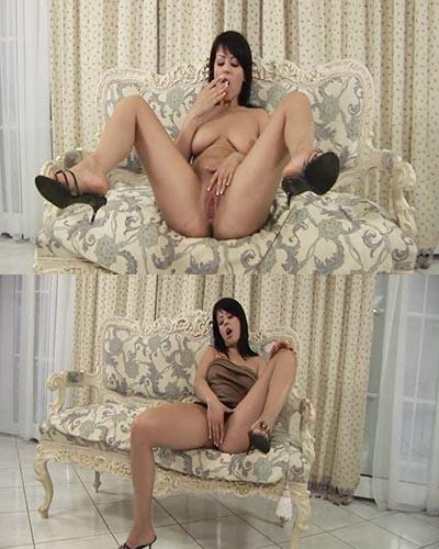 Veronica Sanchez con los dedos dentro de su vagina