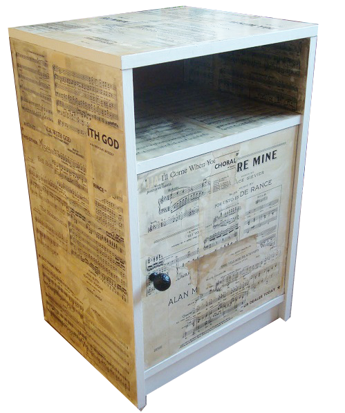 Decoupage Table With Book Pages