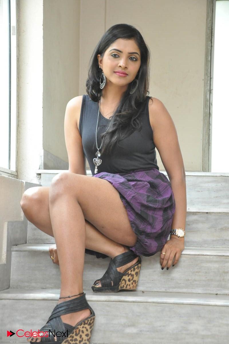 Sanchita Padukone Latest Hot Photos Short Dress At Chammak Challo Movie Platinum Disc Event Celebsnext Prayaga Martin Leg