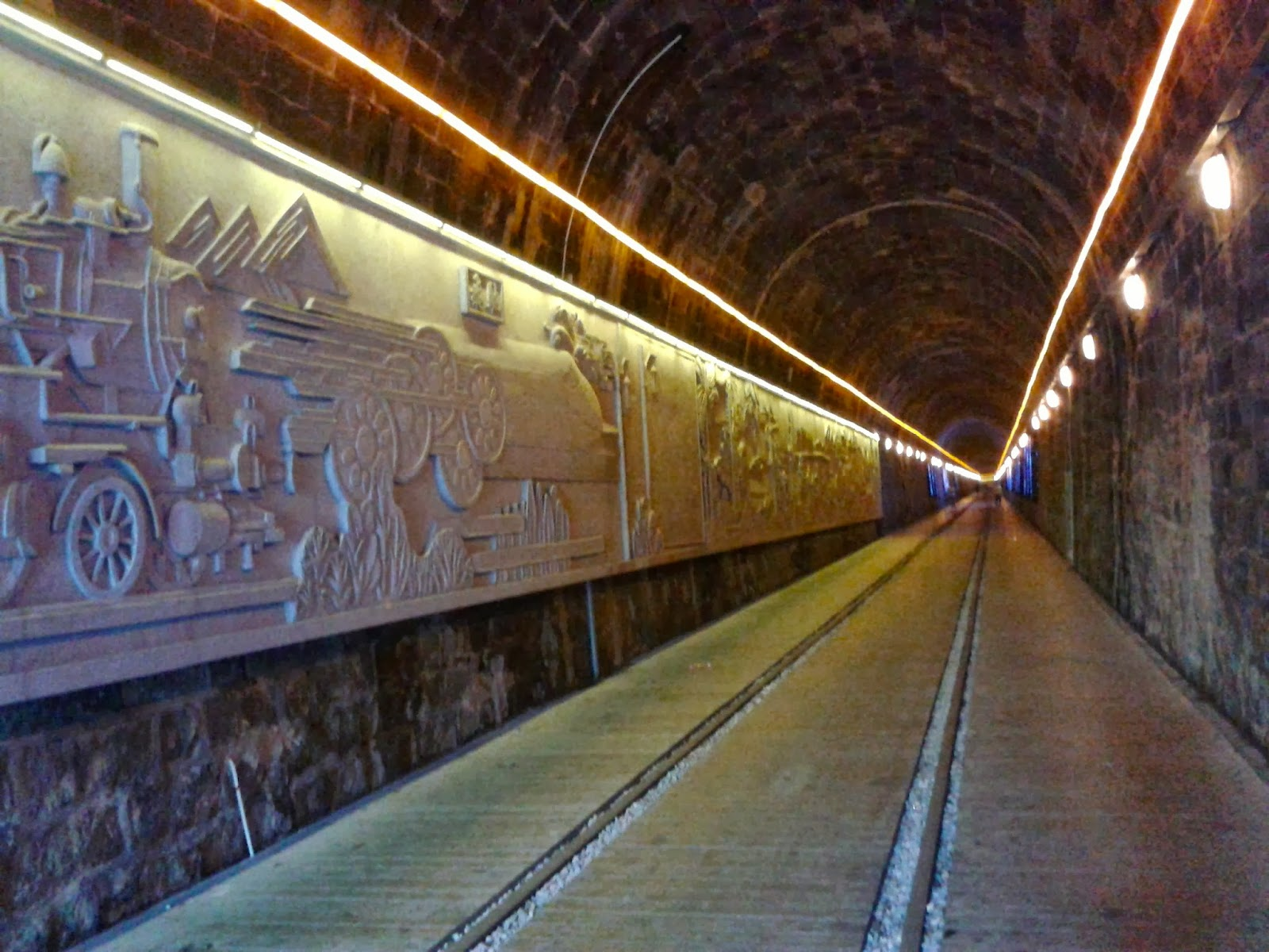 artwork inside the tunnel