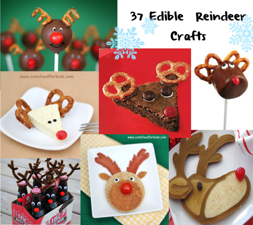 Cute food for kids 37 edible reindeer crafts 37 edible reindeer crafts forumfinder Gallery