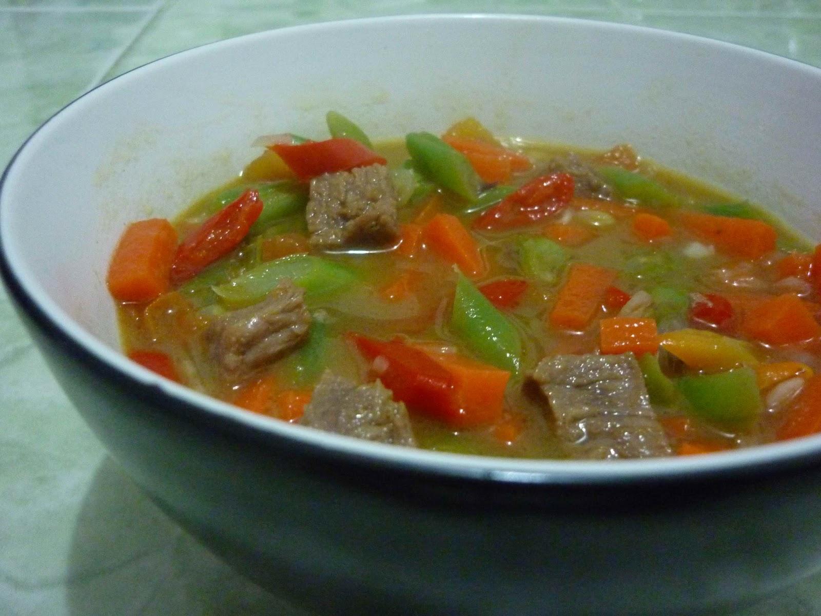Resep Masakan Sayur Asem-Asem Buncis Daging Jawa
