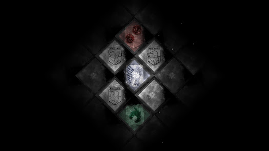 attack on titan emblem flags