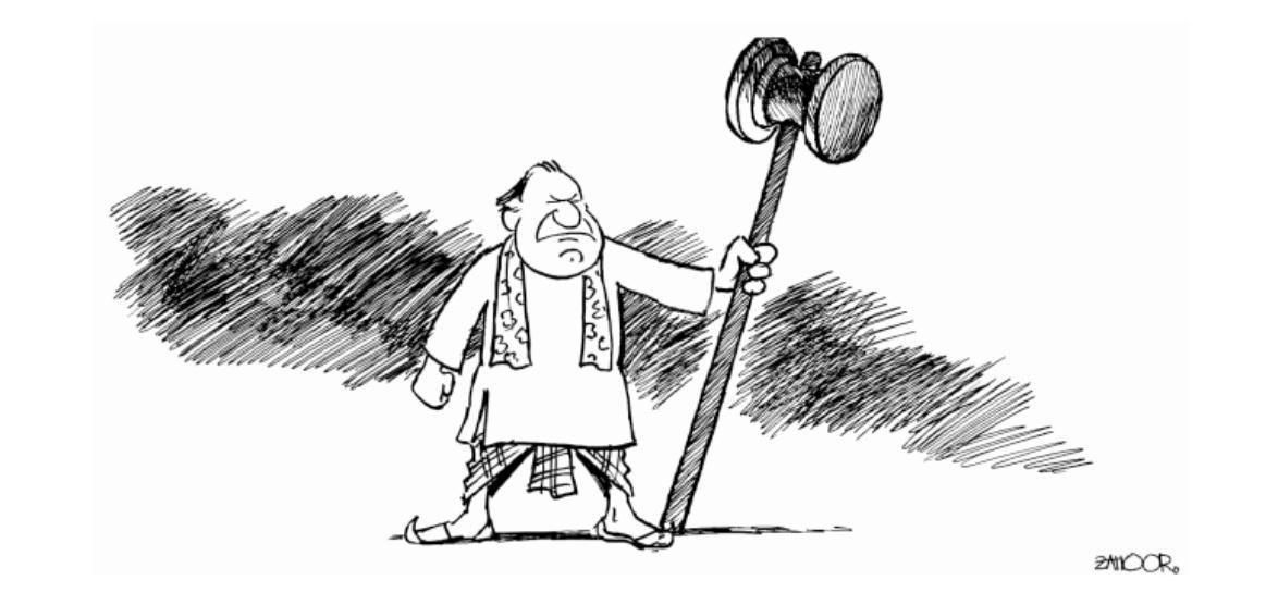 The Express Tribune Cartoon 3-8-2011 - Pakistani Newspaper Cartoon