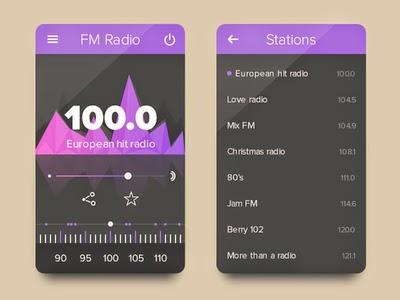 FM Radio UI PSD