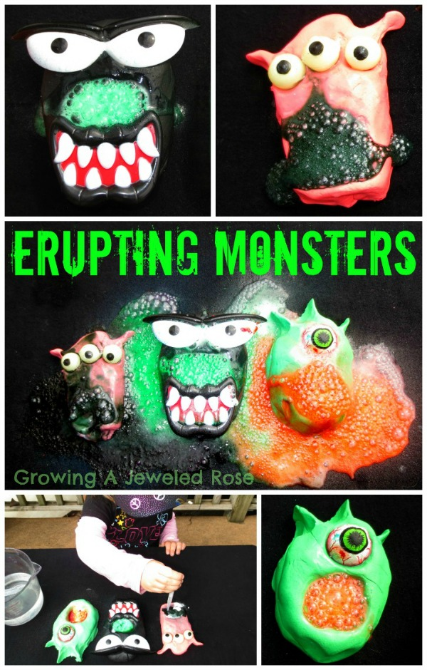 Erupting monsters