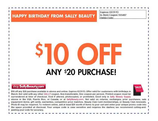Sally's Beauty Supply Coupon March