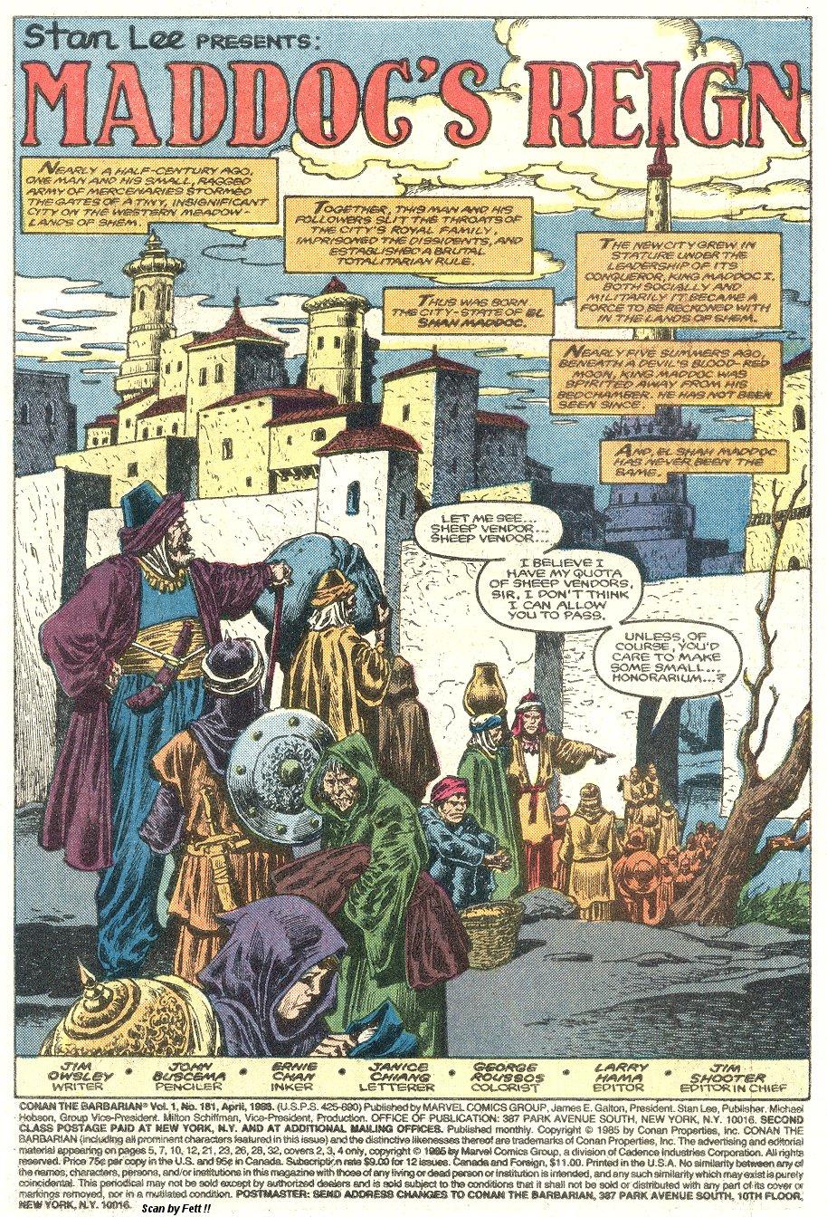 Conan the Barbarian (1970) Issue #181 #193 - English 2