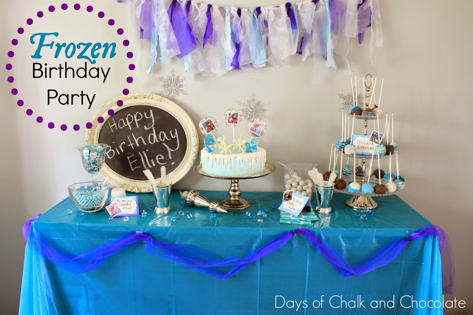 frozen birthday party dessert