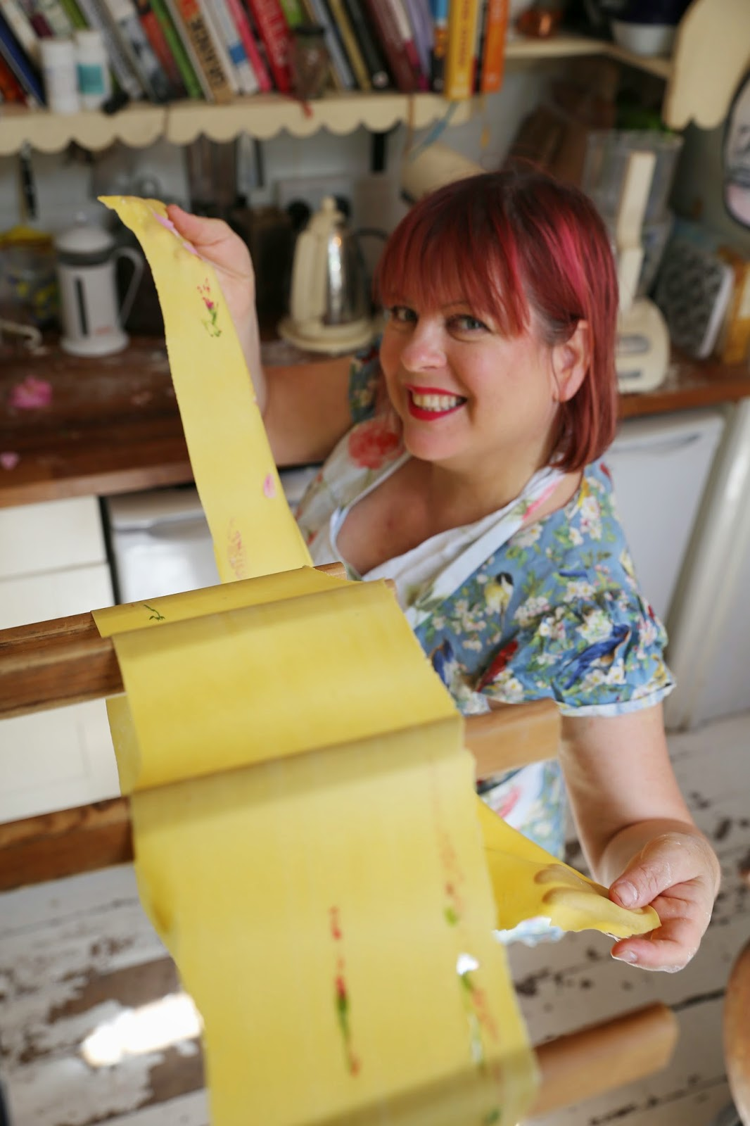 MsMarmitelover/Kerstin Rodgers showing off her flowery fresh pasta