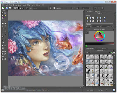 Krita 2.9.7.6 Software Editing Mirip Photoshop Gratis