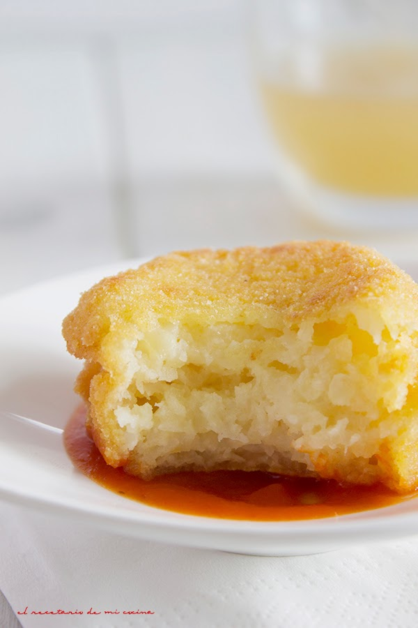 bolas de patata y queso