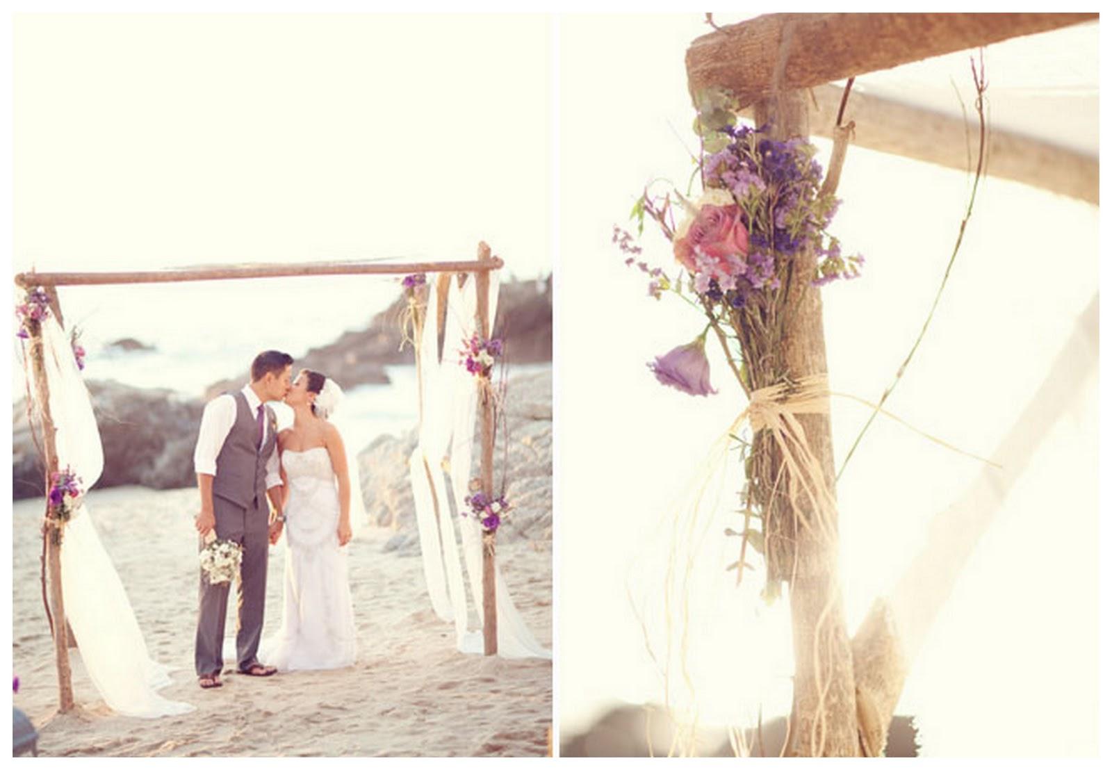 Real Rustic Beach Wedding: Grace & Mike