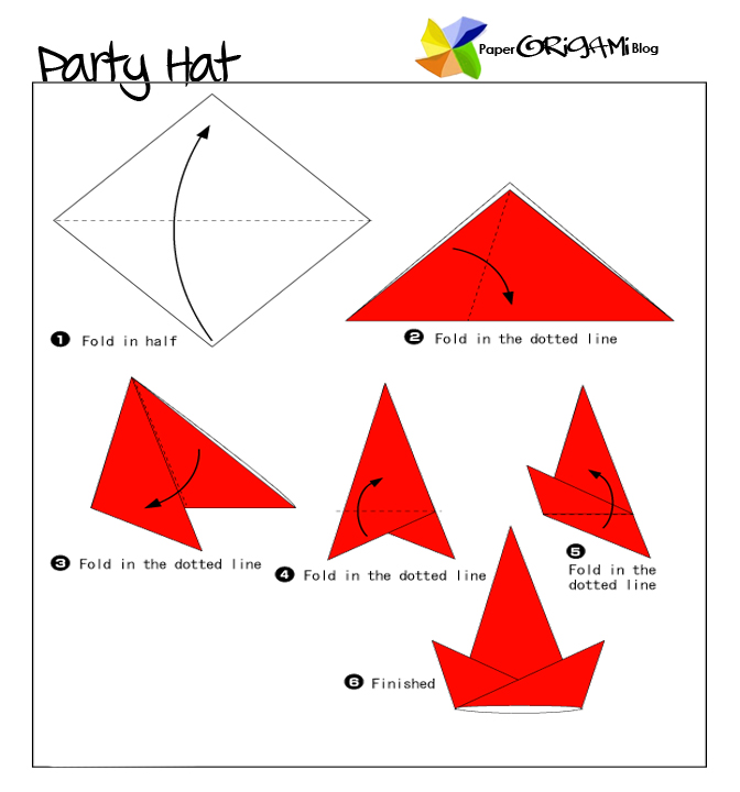 party hat origami paper origami guide
