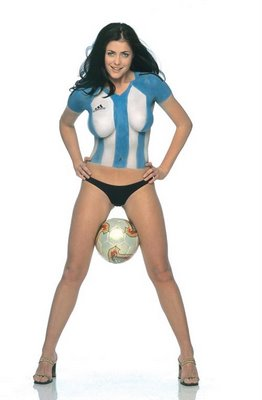 costumed women body paint gallery argentina jersey