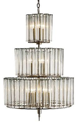 Modern Glass and Silver Leaf Chandeliers! Four Styles! | The ...