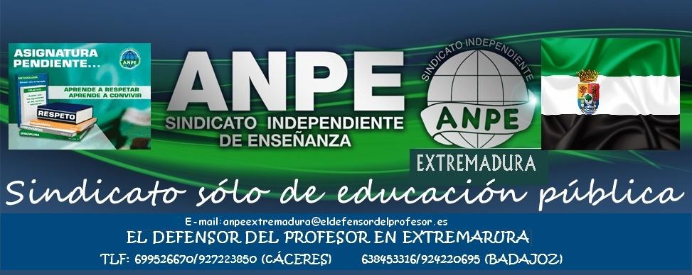 Defensor del profesor Extremadura