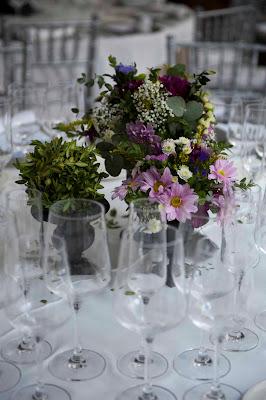 Centro mesa boda copas