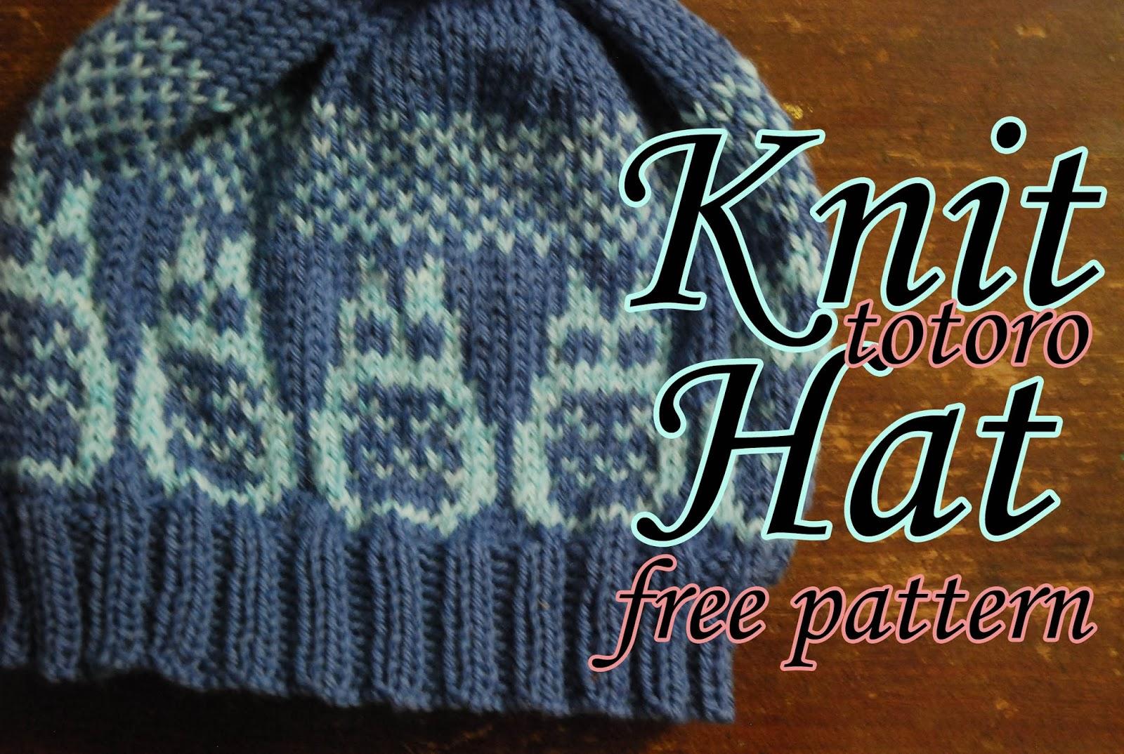 Kitty Adventures: Knit Totoro Hat Tutorial