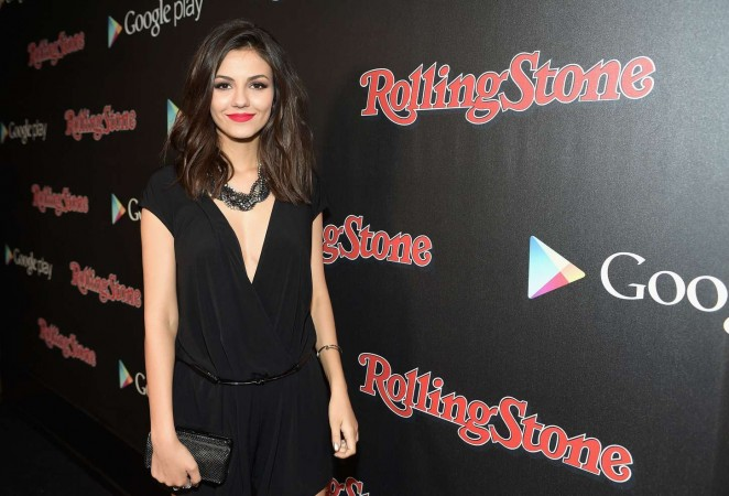 Victoria Justice is chic in black at the Rolling Stone and Google Play Grammy Week Event in LA