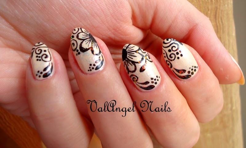 Best Mehndi For Nails : Valangel nails art
