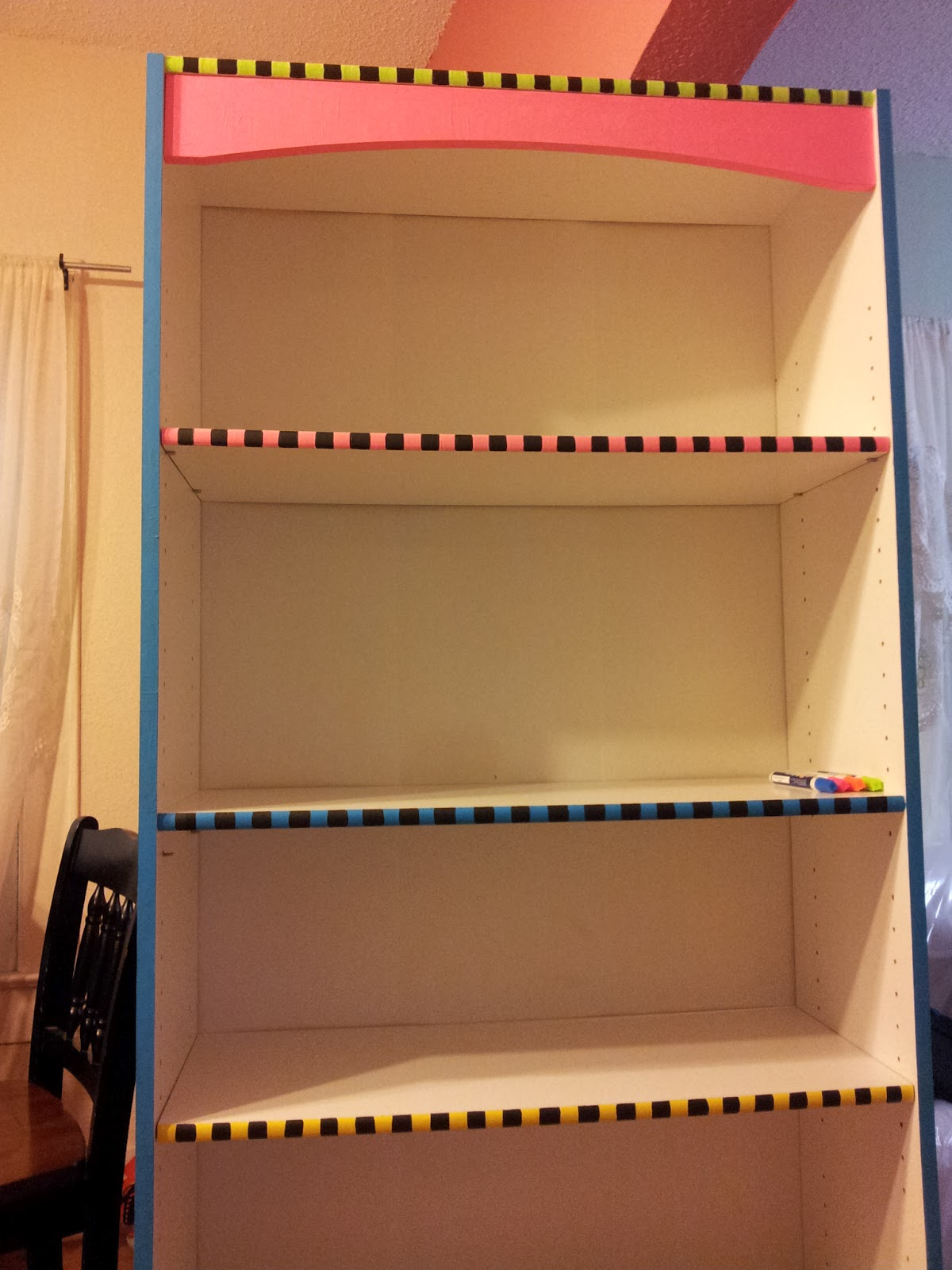 This Is An Old Plain White Bookshelf From My Boys RoomI Decided To Give It A Bit Of Color