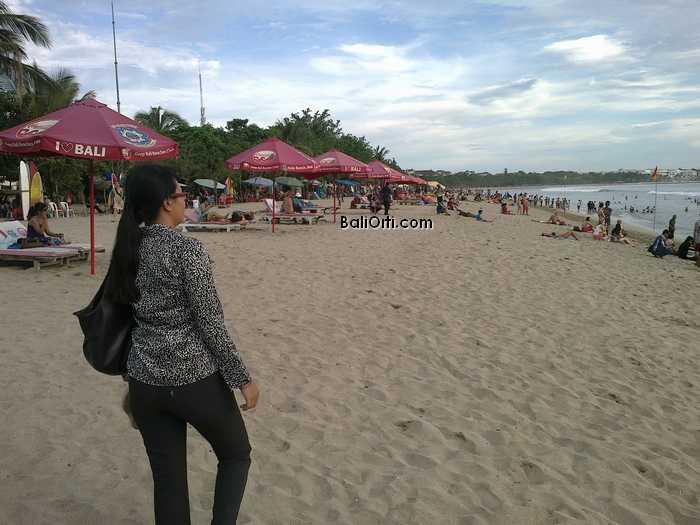Walking in Kuta Beach Bali