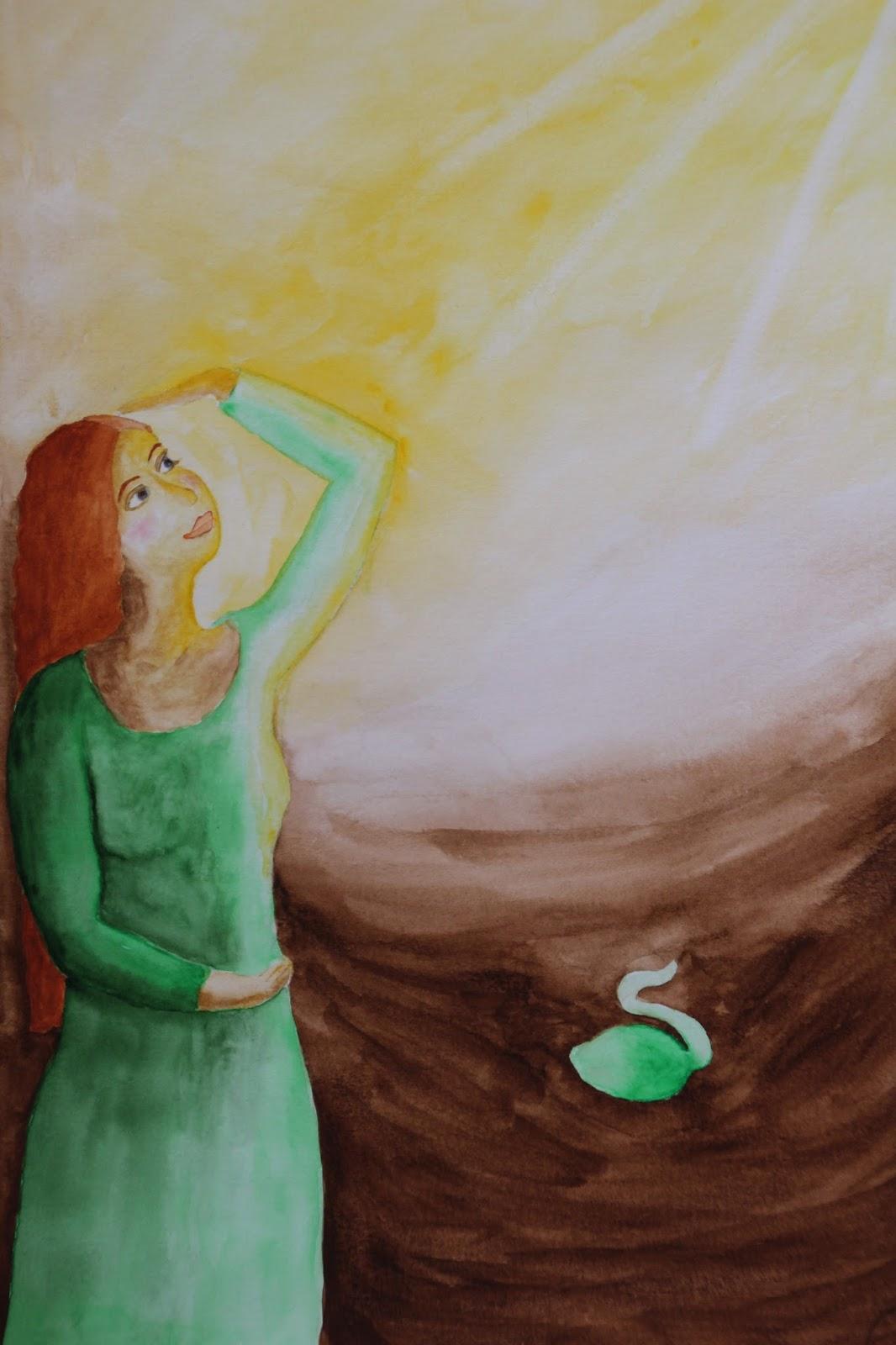 akvarell esmeralda steen