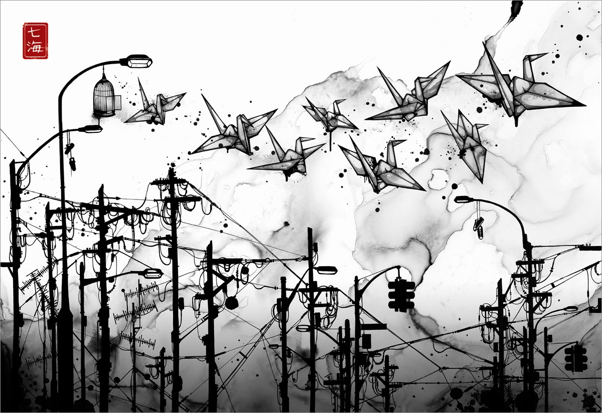 03-Cable-Cranes-Nanami-Cowdroy-Splashes-of-Ink-Drawings-www-designstack-co