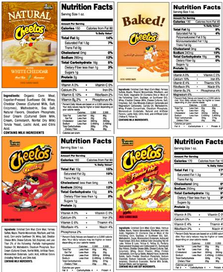 baked white cheddar cheetos ingredients