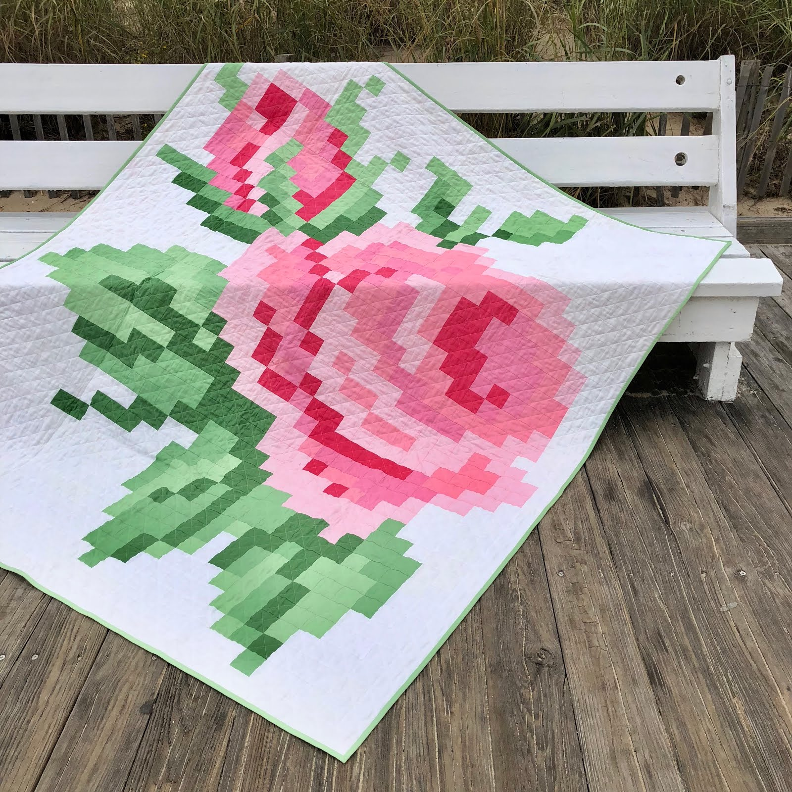 Pixelated Rose