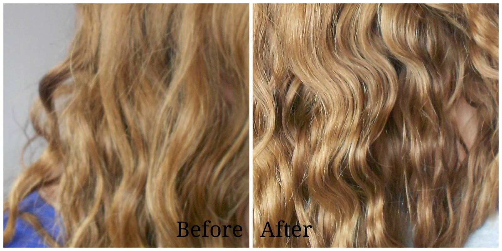 before and after PHYTO HUILE SOYEUSE hair oil