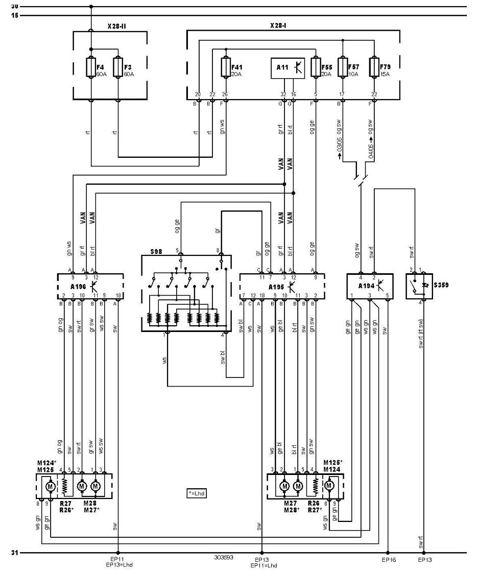 electric mirror switch wiring diagram