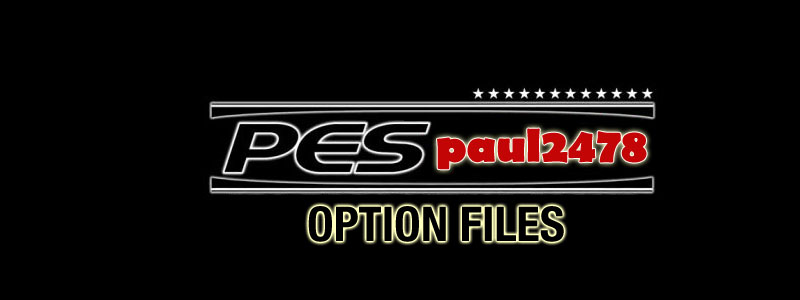 paul2478 PES Option Files