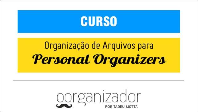 Organização de arquivos para personal organizers