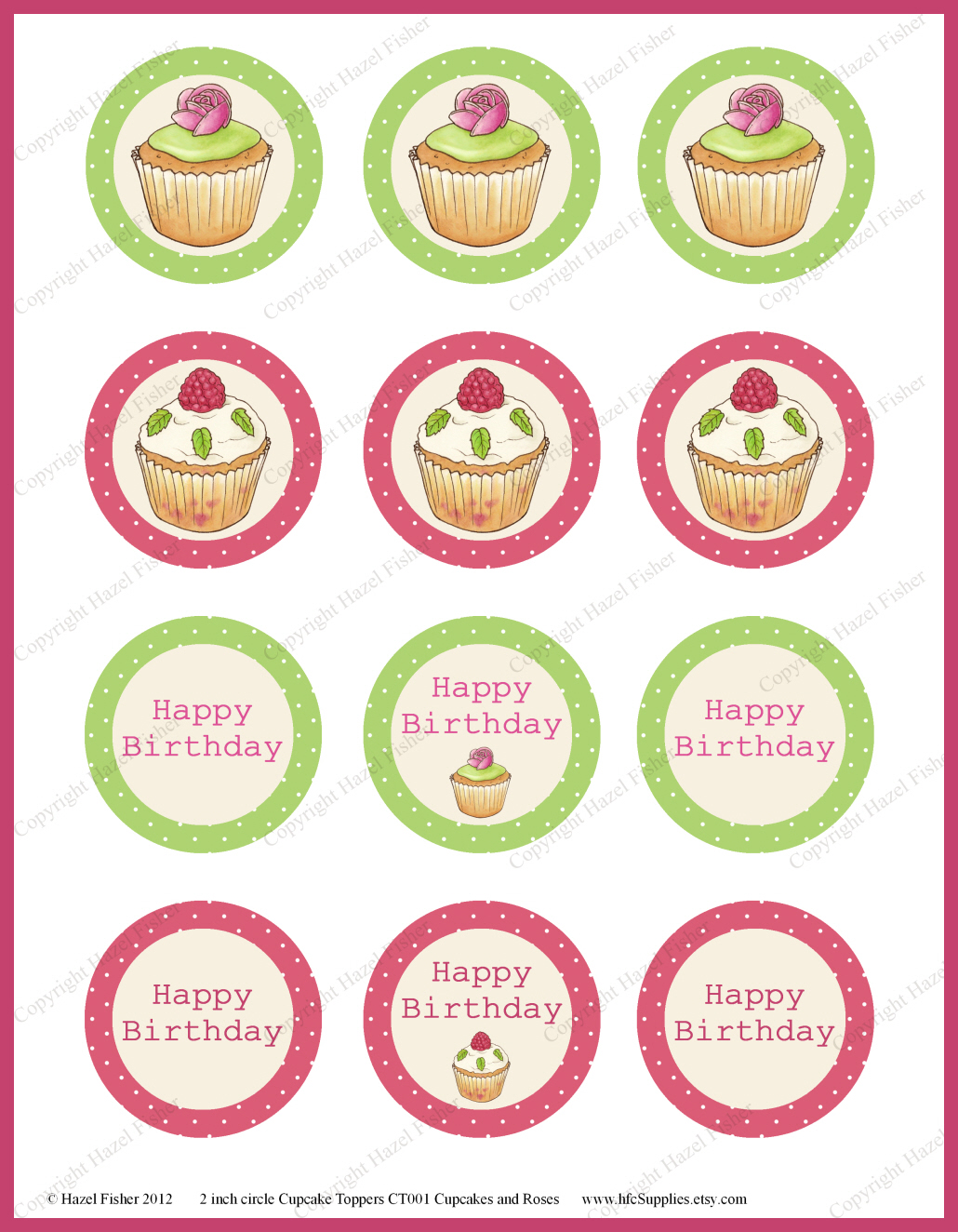 Cute 1st Job Resume Template Huge 2 Circle Template Clean 2 Year Calendar Template 2007 Powerpoint Templates Free Youthful 2014 Monthly Calendar Template Green2014 Resume Template Hazel Fisher Creations: Cupcakes And Roses \u2013 Cupcake Toppers