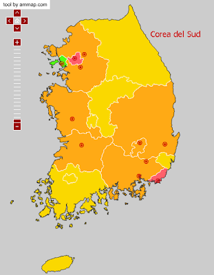 Sitios visitados en Corea