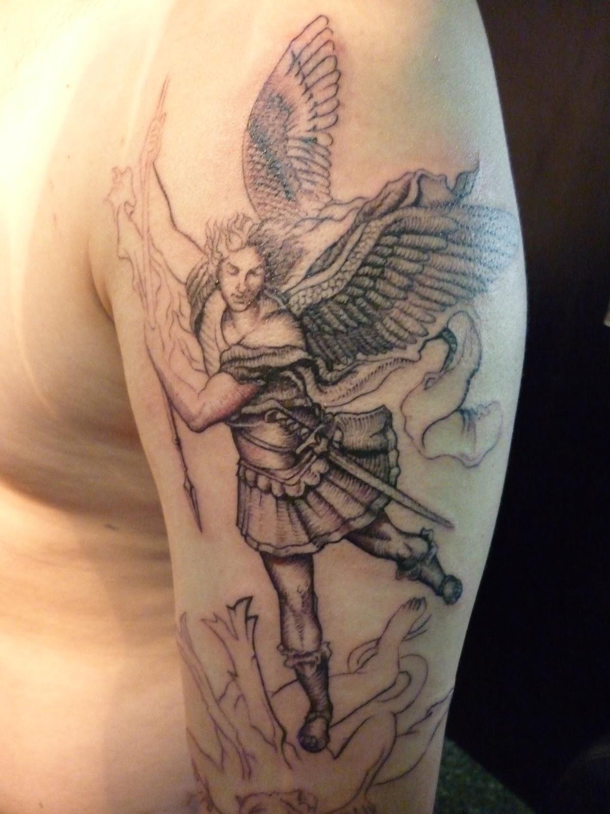 San Miguel Arcangel Tattoo 1   Sesion