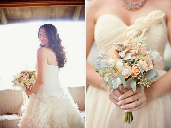 """Hoa cưới đẹp 1 màu """" ton sur ton"""" không hề đơn điệu"""