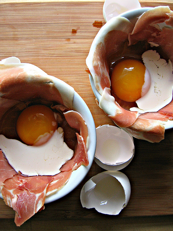 sweetsugarbean: Fresh Start: Baked Eggs with Prosciutto ...