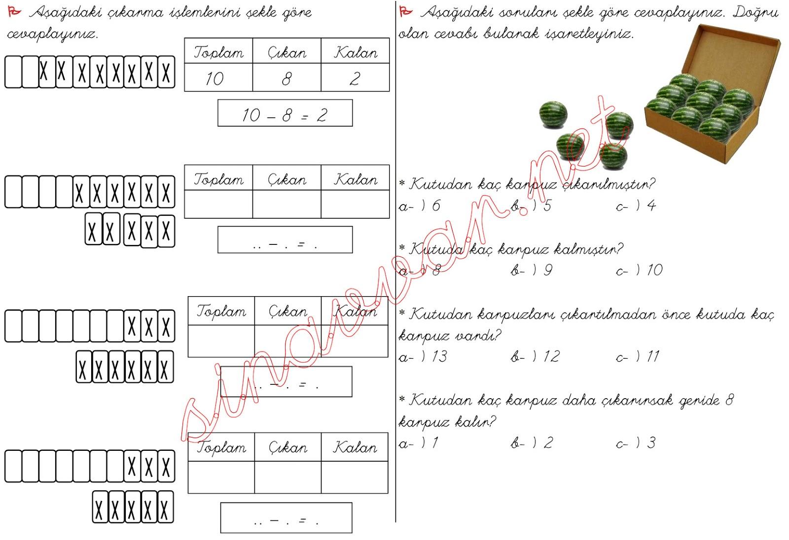 236 kB · jpeg, Sınıf matematik dersi çıkarma işlemi problemleri