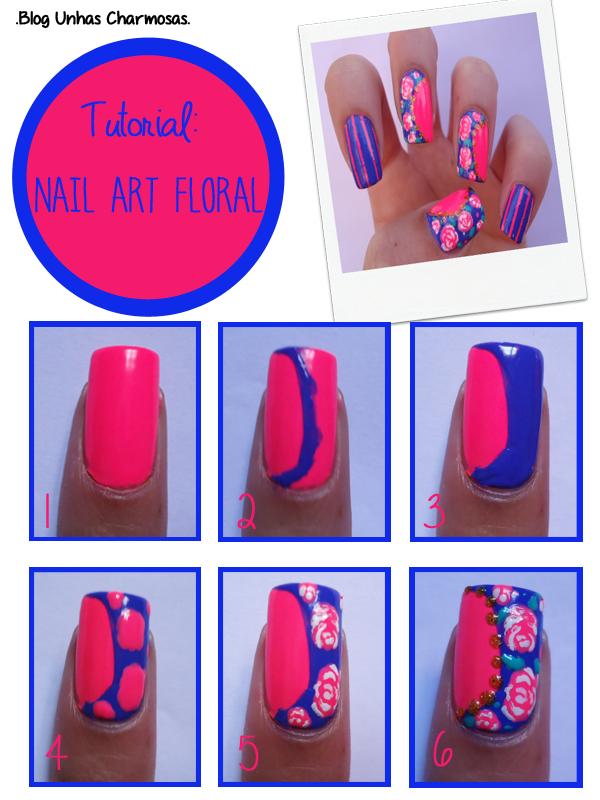 nail art floral vintage, nail art floral, nail art listras, unhas floral, unhas com flores, unhas fofas, esmalte frio na barriga, unhas decoradas, passo a passo unha decorada