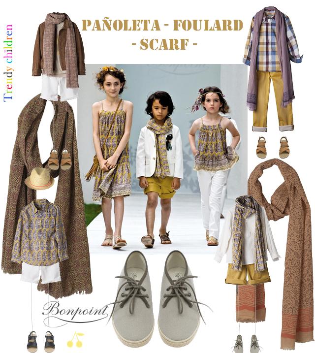 pañoleta foulard niño