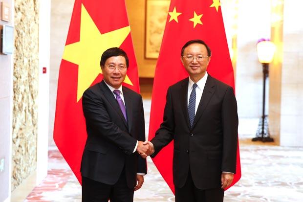 Pham Binh Minh & Yang Jiechi