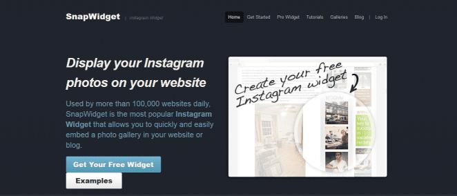 instagram widget snapwidget