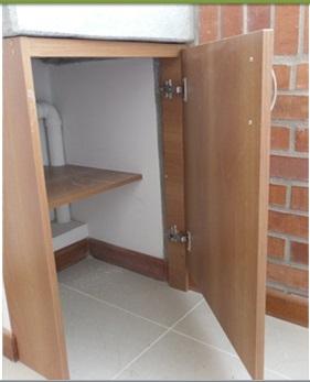 Arte hogar puerta para el lavadero for Puerta lavadero