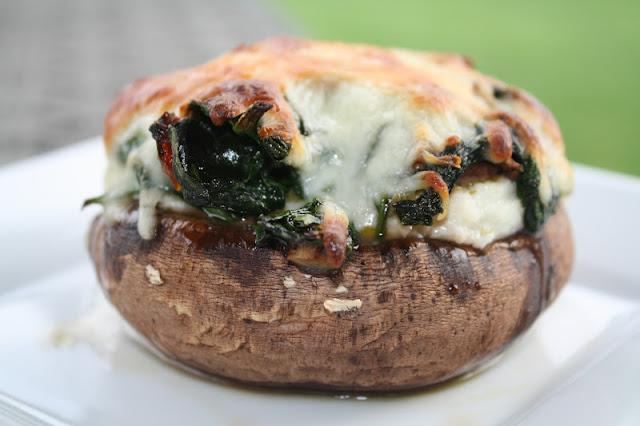 ... Leigh in the kitchen: Spinach & Ricotta Stuffed Portobello Mushrooms