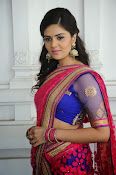 Sri Mukhi Gorgeous Half saree Photos-thumbnail-11