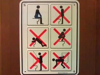 smešni znakovi: šta je dozvoljeno i zabranjeno u toaletu