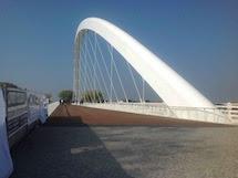 Una passeggiata sul nuovo ponte Meier